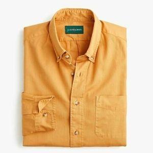 JCREW Golden Mustard Yellow The 1987 Twill Shirt